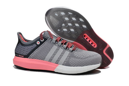 Womens Aidas Boost Clima Chill Light & Deep Grey - Pink